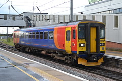 East Midlands Trains Super Sprinter 153379 (Will Swain) Tags: peterborough station 12th may 2017 train trains rail railway railways transport travel uk britain vehicle vehicles country england english city centre east midlands super sprinter 153379 class 153 379