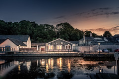 River Time (garethleethomas) Tags: river water town landscape sunset sky clouds buildings architecture lights night evening uk greatbritain wales pembrokeshire