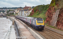 20170719-IMG_3049 (deltic21) Tags: dawlish gwml gwr greatwestern hst british brblue britishrail br first seaside seawall sea devon london newquay tide mk3