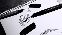 Sometimes the nothing is the best. (ColoredYouTube) Tags: draw drawing art pen dark black blackandwhite still stilllife stillife white eyebrow eyebrows nothing inspiration nodraw