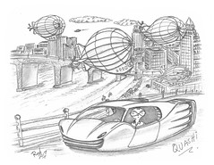 Quashi (rod1691) Tags: bw scifi grey concept custom car retro space hotrod drawing pencil h2 hb original story fantasy funny tale automotive art illistration greyscale moonpies sketch