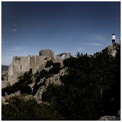 Chateau de peyreperthus. Castel. Cathare. South of France (harry ray) Tags: canigou velo anna miguel parapente fontaine torreilles po france fra