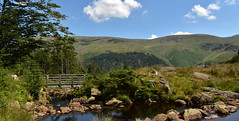 A Bridge To A View (cassidymike21) Tags: landcsape trees mountians bridge nikon view stream