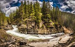 Upper Johnston Falls (tibchris) Tags: banff banffnationalpark landscape trees river waterfall panorama alberta nature travel