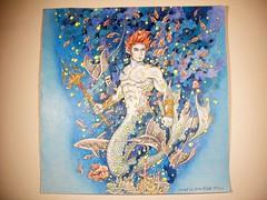 Merman (Lynne M. B.) Tags: coloringadults coloring coloringbook coloredpencils drawing art illustration prismacolor iaanextremecoloringandsearchchallenge kerbyrosanes