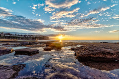 I can step into the skies at my feet (JustAddVignette) Tags: algae australia bilgolabeach dawn landscapes newsouthwales northernbeaches ocean reflections rocks seascape seawater sky sunrise sydney water