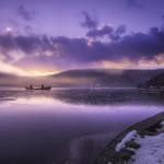 Sunrise at Santa Croce lake thumbnail