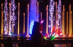 Margaret Island Fountain (bellastrange01) Tags: lights fountain people night colors water