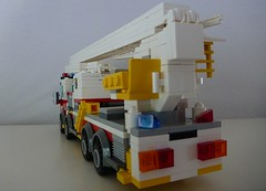 CFA Skylift Ladder Platform (1) (LonnieCadet) Tags: lego brick bricks 2017 july model custom moc mugs australia victoria victorian melbourne fire country firefighter fireman brigade metropolitan authority ambulance australian teleboom skylift ladder platform 1 2 sprinter geelong emergency service medical paramedic modern current design recent new snot order truck car van vehicle wheels road travel