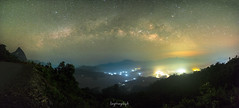 Galactic Panorama (langthangdaydo) Tags: milkyway milky way sky blue nightscape night nightphotography nightsky nighttime star stars travel traveling traveler explorer explore longexposure adventure trip bluenight dark darkness photo galaxy astrophotography vietnam asia outdoor wilder wilderness astronomy photography wildlife wild willderness cloudy hill mountain lights light mountains colorfull fullstar color beautiful shadown dawn universal astrophoto universe astrography abstract astro galactic nightfall clouds cloudscape cloud wanderlust panorama mountainside lake landscape panoramic fujifilm fujifilmxt1 xt1 lightning tree trees