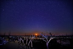 Moonset (karinavera) Tags: travel sonya7r2 view longexposure night buenosaires epecuen argentina starry abandoned moonset ruin sky stars