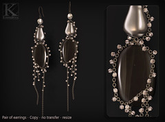 (Kunglers) Paty earrings AD onyx (AvaGardner Kungler) Tags: earrings shinyshabbysl kunglers avagardnerkungler avakungler secondlifejewelry statementjewelry