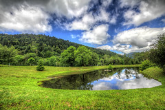 Mont Dore (sebastienloppin) Tags: landscape holidays holiday paysage dreamscape canon canoneos60d canonofficial sigma1020f456dchsm sigma sigmaex wideangle wide bluesky blue auvergne mountain montagne lake lac reflet reflect reflection