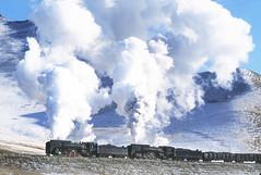 FRIGID (dayvmac) Tags: chinesesteam steam steamlocomotive trains winter snow jingpeng jitong railfan railroad railway steamtrain smoke china