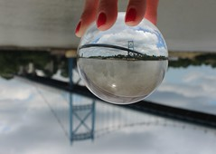 High Level Bridge (anneescott) Tags: bridge highlevelbridge ball crystal crystalball