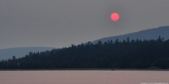 2017-08-01 Sunset (01) (2048x1024) (-jon) Tags: anacortes skagitcounty skagit washingtonstate washington salishsea fidalgoisland sanjuanislands pugetsound guemeschannel pnw pacificnorthwest northwest pacific sky sunset sun red ball redball fires smoke haze forestfire wildfires britishcolumbia a266122photographyproduction