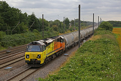Empty cement (DieselDude321) Tags: 70802 class 70 colas rail 6s89 0130 west thurrock sidings oxwellmains lafarge pilmoor north york scotland