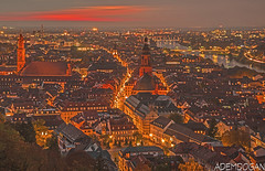HEIDELBERG (01dgn) Tags: heidelberg stadtheidelberg travel sky sunset colors red almanya deutschland germany badenwürttemberg altstadt night gece nacht