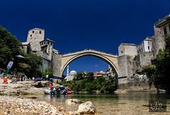 Mostar: The Old Bridge (richárdjánosi) Tags: bosna hercegovina bosznia mostar summer bridge canon river blue