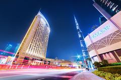 Downtown Dubai (Sajeesh KV) Tags: dubai downtown burjkhalifa night street busy lights longexposure uae