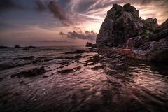 sunset (katsumasa0313) Tags: sea seaacape sunset sony rock wave coast cloud japan amakusa a7sm2