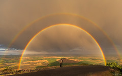 Confounded (Hilton Chen) Tags: palouse spring colfax scale sunset doublerainbow person washington stormclouds garfield unitedstates us