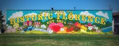Mural - Florence, Nebraska (vwcampin) Tags: mormonbridge winterquarters mormons mormon iphoneography iphoneographer iphoneology iphonology 1854 art building quaint old historic downtown 30thstreet 30thst town city omaha midwest nebraska florence iloveflorence mural