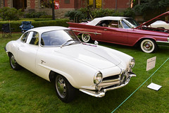 1961 Alfa Romeo Sport Speciale (faasdant) Tags: 45th annual forest grove concours delegance 2017 pacific university campus classic car automobile show exhibition 1961 alfa romeo sport speciale white coupe
