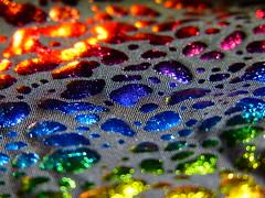 Blobs [Explore-2017-07-17] (Gazman_AU) Tags: macromondays memberschoicetexture hmm macro material abstract colours metalic weave