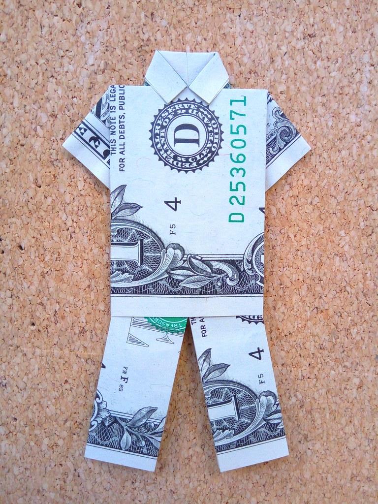 Dollar Origami Pants Tutorial - How to make Dollar Pants - YouTube | 1024x768