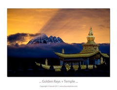 ... Golden Rays & Temple (liewwk - www.liewwkphoto.com) Tags: 中国 四川 塔公 雅拉雪山 sunrise dawn 日出,晨曦 temple liewwk liewwknature liewwkphotohunters landscapeouting rgnd 2 stops