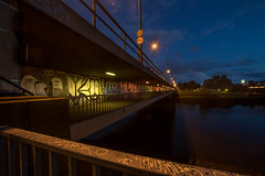Stephanibrücke (krieger_horst) Tags: bremen abendstimmung weser brücke stephanibrücke