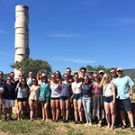Honors students pose at the Temple of Hera in Samos.
