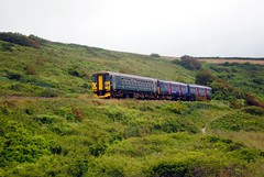 GWR / First Great Western at Porthkidney Beach (zawtowers) Tags: cornwall kernow summer holiday break vacation july 2017 carbisbay porth reb tor lelant lannanta south west coast path walk late afternoon rainy gwr first great western tain st ives ba line single track porthkidney beach