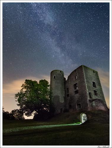 Sternenhimmel über Burg Arnstein