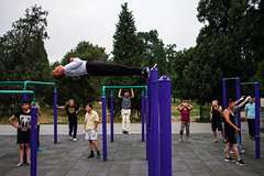 Park Fitness - Beijing, China (Maciej Dakowicz) Tags: asia china beijing city park people fitness sport activity pastime sunday fujifilmxseries fujifilmxt2
