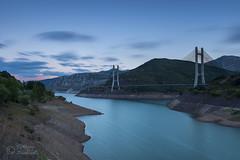 Puente Ingeniero Casado (Chus65) Tags: puente embalse atardecer agua largaexposicion