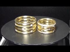 Aliança de Casamento em Ouro Amarelo 18K Vazada com Brilhantes (portalminas) Tags: aliança de casamento em ouro amarelo 18k vazada com brilhantes