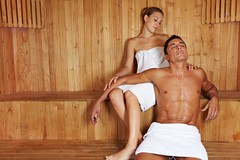 13713186_ml (worldclassclubs) Tags: sauna couple love woman man relaxation wellbeing recreation holiday spa happy luxury laughing wellness calm health sit heat sweat sweating leisure wood steambath beautiful body girl healthy hotel skin beauty comfortable attractive friends pleasure bath therapy towel therme relax care steamsauna enjoy joyful healthresorttreatment people person caucasian