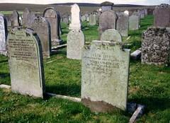 Eday Isl. Orkney Irvine graves (Bill 1.75 Million views) Tags: eday orkney scotland midhouse backaland burnt burntmound kirk church graveyard gravestone hebden irvine ferry loganair brittennorman brittennormanislander calfsound mounthoolie hoolie thule tombstones graves buriel island