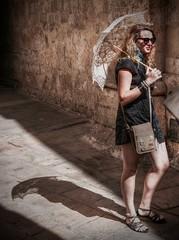"""Malta """"Mdina"""" (Robban.W) Tags: malta mdina girl unbrella oldtown mediterranean medelhavet nikon nikkor d800 2470 summer shadow"""