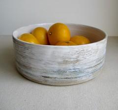 Modern Fruit Bowl (Jude Allman) Tags: stoneware ceramics ceramic craft crafts clay allman jude bowl bowls fruit folksy etsy white sea blue