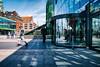 Blue sky (Maria Eklind) Tags: bluesky trainstation reflection streetview malmö cityview street himmel spegling city moln malmöcentralstation sweden station cluds skånelän sverige se