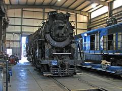 Lima steam & a 645 (GLC 392) Tags: emd sd452 conrail quality 8976 csxt ohcr morgan run oh ohio lima berkshire 284 nickle platte plate road railway railroad train steam central shop building 763