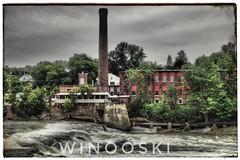 Holidays (clamato39) Tags: usa étatsunis usine factory winooski river rivière bâtiment industrial industrie ciel sky clouds