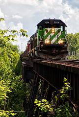 Quincy Trestle (Wheelnrail) Tags: io iory oc ohio central emd sd402 locomotive rail road train trains bridge washington court house b turn local freight springfield quincy