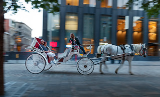 Sightseeing tour with horse-drawn carriage in Old Montreal