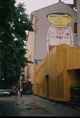 the YellowHead (skorska.a) Tags: analogue 35mm analog zenit 35mfilm 35mmfilm ishootfilm mural streetart kreuzberg