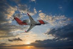 AMSA Bombardier Challenger 604 (Thunder1203) Tags: rosebud victoria australia au amsa maritime searchandrescue jet flight macphun luminar edit composite