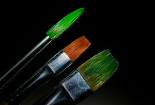 Three paintbrushes. (Explored 25.7.2017)